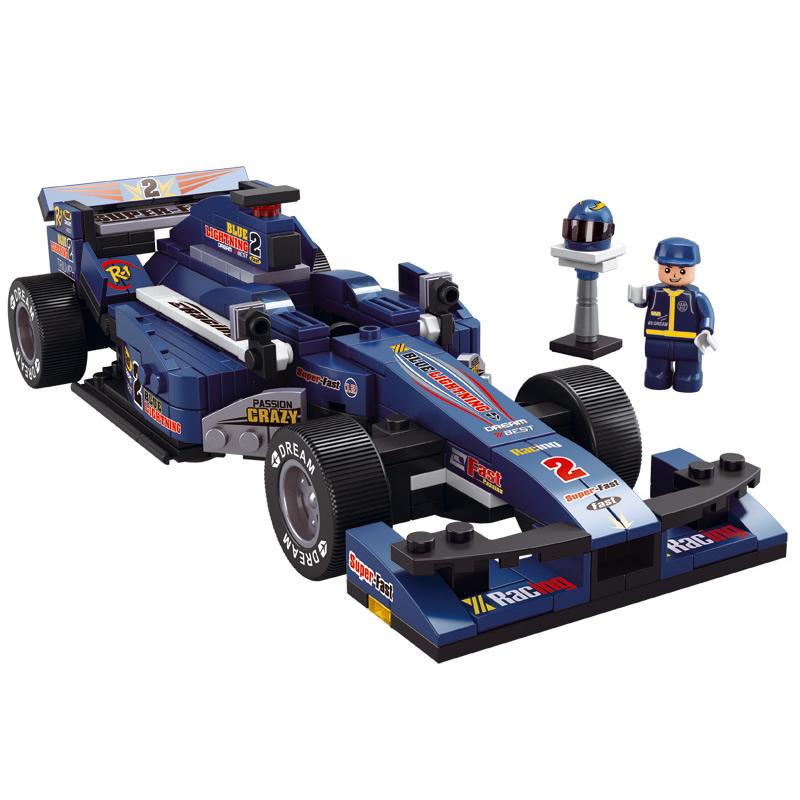 formula 2 f2 1 f1 blue x large racer racing fast car building bricks set 1 24 ebay. Black Bedroom Furniture Sets. Home Design Ideas