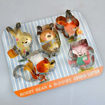 Bobby Bear & Buddies Set of 5 Cookie Cutters