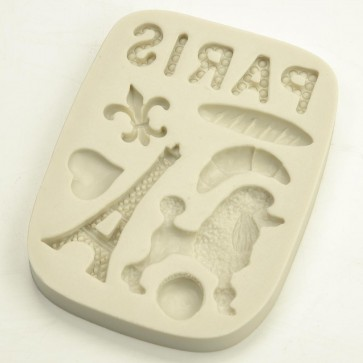 Paris France Themed Silicone Mould