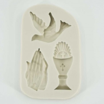 Holy Communion Confirmation Dove Pray Chalice Silicone Mould