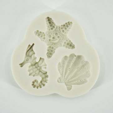Sea-shell Seahorse Starfish Summer Beach Silicone Mould