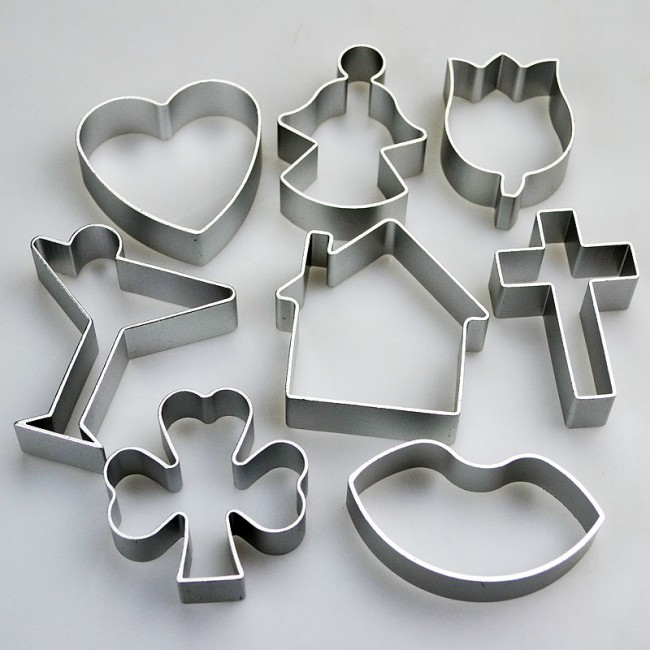 Set Of 8 Celebration Shapes Cookie Cutters