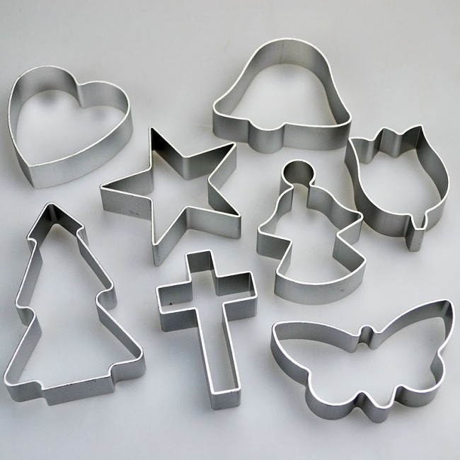 Set Of 8 Religious Shapes Cookie Cutters Cross Angel