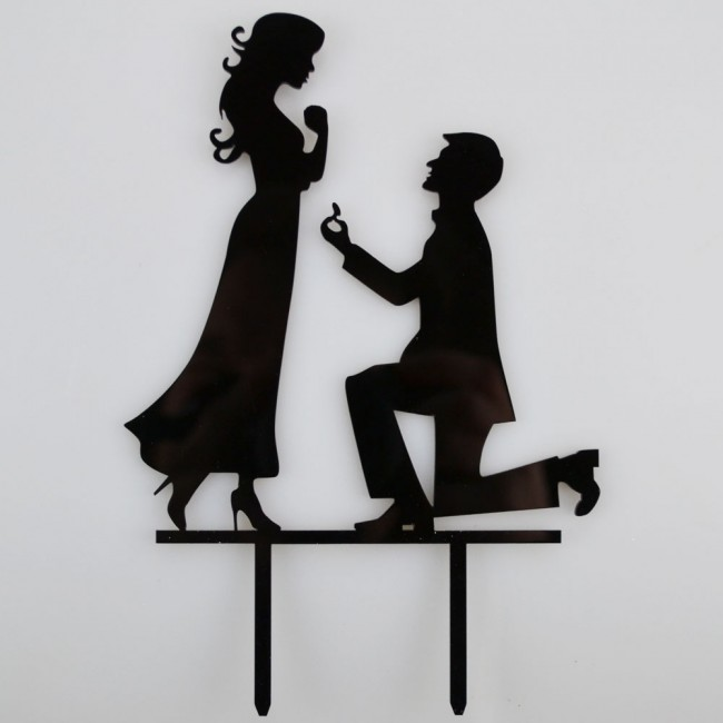 Engagement Proposal Bride Amp Groom Acrylic Wedding Day Cake