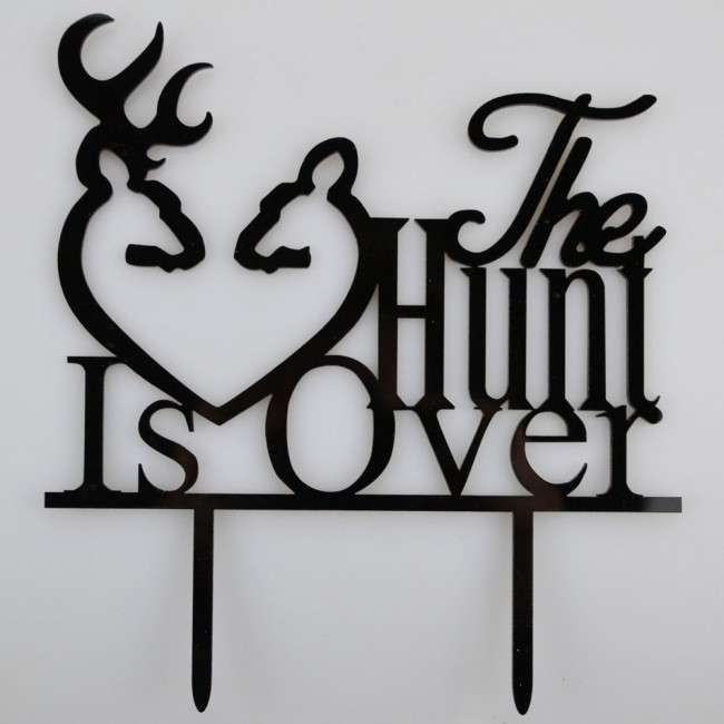 The Hunt Is Over Stag Amp Deer Heart Acrylic Wedding Day