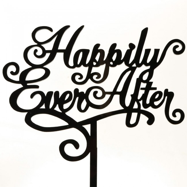 Happily Ever After Marriage Script Acrylic Wedding Day ...