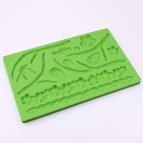 Summer Garden Floral Multi Mat Silicone Mould Cake Decoration Sugarcraft Fondant