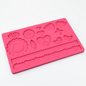 Summers Love Birds Multi Mat Silicone Mould Cake Decoration Sugarcraft Fondant