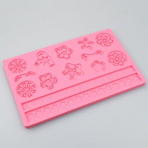 Various Floral Shape Multi Mat Silicone Mould Cake Decoration Sugarcraft Fondant