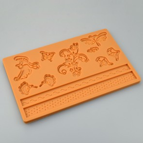 Natural Wonders Multi Mat Silicone Mould Cake Decoration Sugarcraft Fondant