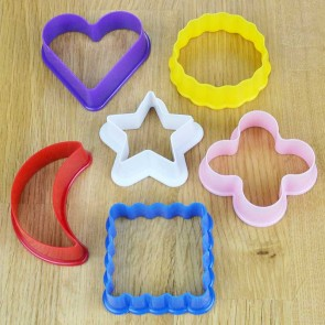 Set of 6 Mini Cookie Cutter Shapes