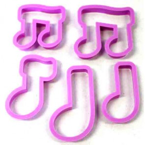 Set of 5 Musical Note Cookie Cutters