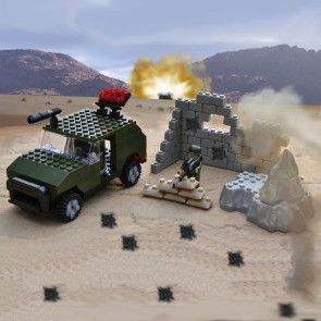 Toyrific Army Ambush Jeep Building Bricks Set (201 pieces)