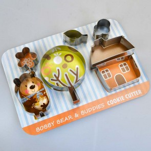 Bobby Bear House Set of 7 Cookie Cutters