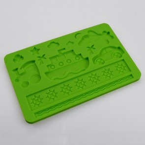 Childrens Birthday Cake Multi Mat Silicone Mould