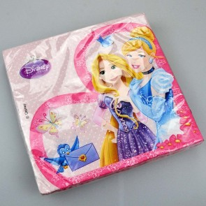 Pack of 20 2ply Disney Princess Birthday Party Paper Napkins 33cm Serviettes