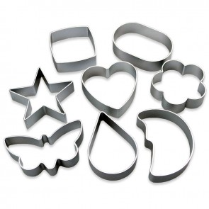 Set of 8 Fancy Shapes Cookie Cutters - Butterfly Heart Flower & More
