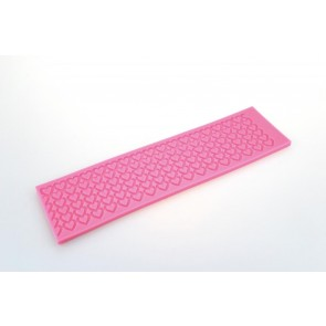 Mini Hearts Lace Pattern Texture Embossing Silicone Mat Cake Fondant Print Strip
