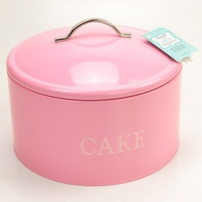 Kitchen Craft Pink Jumbo Cake Tin with Removable Lid Dia 28cm H 18cm
