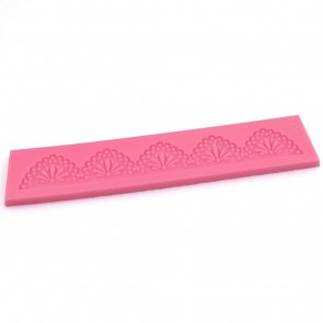 Lace Frill Arch Pattern Texture Embossing Silicone Mat Cake Fondant Print Strip