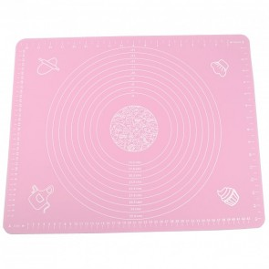 Massive Pink Silicone Pastry Cake Decorating Mat Fondant Rolling Work Sugarcraft