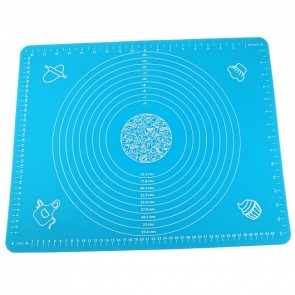 Massive Blue Silicone Pastry Cake Decorating Mat Fondant Rolling Work Sugarcraft