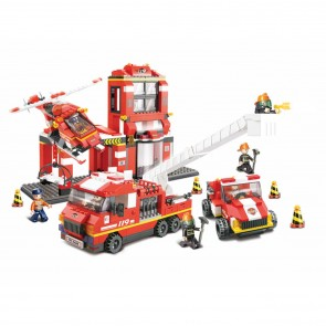 Sluban Firefighter Mass Dispatch Centre Building Bricks Set (727 Pieces)