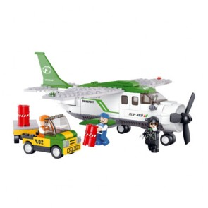 Sluban Transport Freight Plane Building Bricks Set (251 Pieces)