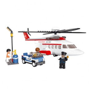 Sluban Personal Private Helicopter Building Bricks Set (259 Pieces)