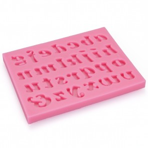 Lowercase Alphabet Letters Fun Birthday Cake Cupcake Name Topper Silicone Mould