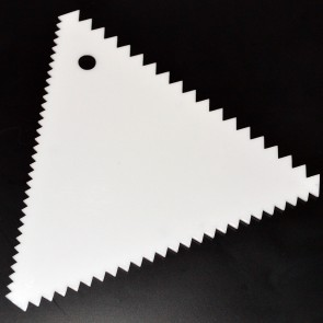 3-Sided Triangle Baking Scraper - White