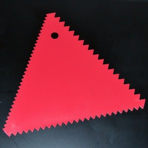 3-Sided Triangle Baking Scraper - Pink
