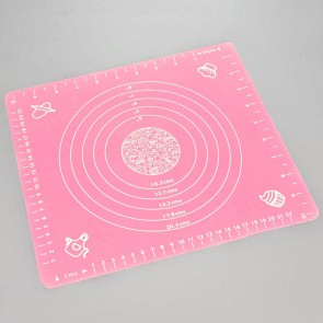 Pink Silicone Pastry Cake Decorating Rolling Mat (29cm x 26cm)