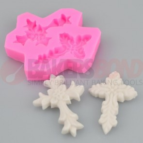 2 Cross Religious Holy Communion Christening Silicone Mould Sugarcraft Chocolate
