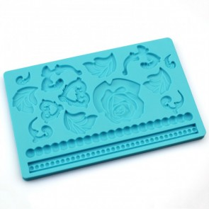 Rose & Pearl Floral Multi Mat Silicone Mould Cake Decoration Sugarcraft Fondant