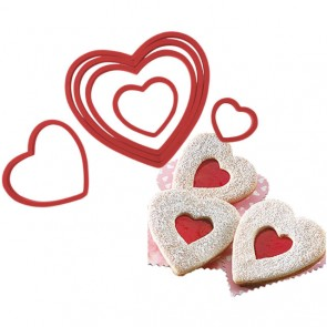6 Nesting Heart Cookie Cutters