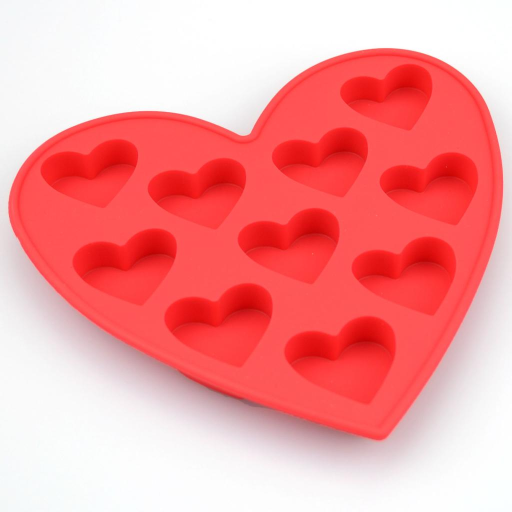heart shaped silicone mould 10 romantic wedding chocolate cake baking icing ice ebay. Black Bedroom Furniture Sets. Home Design Ideas